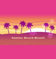 seamless beach resort vector image