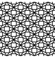 Seamless geometric black and white pattern vector image vector image