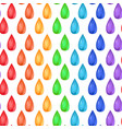 seamless texture with rainbow realistic drops vector image