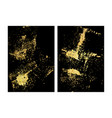 set black and gold design templates for vector image