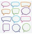 set colorful paper speech bubbles vector image