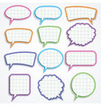 set colorful paper speech bubbles vector image vector image