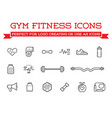 set fitness aerobics gym elements and fitness vector image vector image