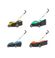 set lawnmower vector image