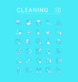 set linear icons cleaning service vector image