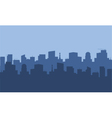 Silhouette of city with blue color vector image