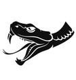 snake head tattoo vector image vector image