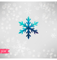 snowflake Abstract snowflake of geometric shapes vector image vector image