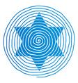 spiral David star vector image vector image