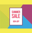 summer sale poster design template vector image
