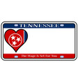 tennessee state license plate vector image vector image