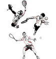 tennis trio vector image