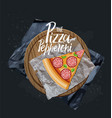 the pepperoni pizza slice without background vector image vector image