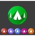 Tourist camp tent icon flat web sign symbol logo vector image vector image