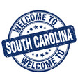 welcome to south carolina blue round vintage stamp vector image vector image