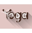 Yoga logo as lettering and poses vector image