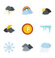 hydrometeorological icons set flat style vector image