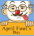 april fools day funny glasses nose vector image