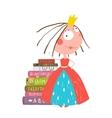 Smart Princess Beautiful Girl Getting Education vector image