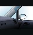 car dashboard and interior vector image