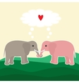 Two elephants in love vector image