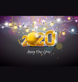 2020 happy new year with 3d gold vector image vector image