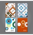 abstract backgrounds set geometric shapes vector image