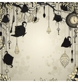 Abstract vintage background with tea party theme vector image vector image