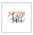 Autumn fall lettering with leaf maple vector image