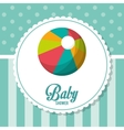 Ball of baby shower card design vector image vector image