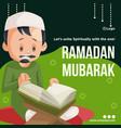 banner design of ramadan mubarak vector image