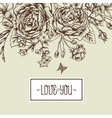 Beautiful Monochrome Victorian Roses in Vintage vector image