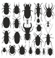 beetles silhouette set