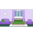 bright colors bedroom interior with furniture and vector image vector image