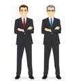 business man set vector image