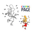 celebrate people cartoon coloring page vector image