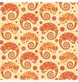 Chameleons decorative seamless pattern vector image