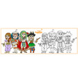 children in carnival costumes eastern vector image vector image