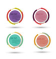 circle badge label design logo vintage round vector image vector image
