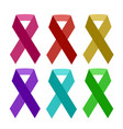 colorful aids ribbon isolated on white vector image