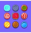 Colorful Hard Candy Flash Game Element Templates vector image vector image