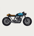 colorful motorcycle side view template vector image