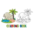 Coloring book of little funny elephant or jumbo vector image vector image