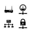 computer network simple related icons vector image
