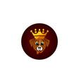 cute king dog cartoon character vector image