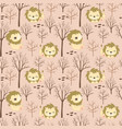 cute lion patterns vector image vector image