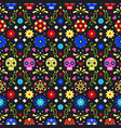 day dead colorful mexican skulls flowers vector image