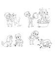 dog training funny cartoon character vector image