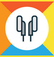 earphones colorful outline symbol premium quality vector image vector image