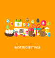easter greeting postcard vector image vector image